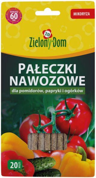 Pałeczki nawozowe z mikoryzą do pomidorów, papryki i ogórków - Zielony Dom - 20 szt.
